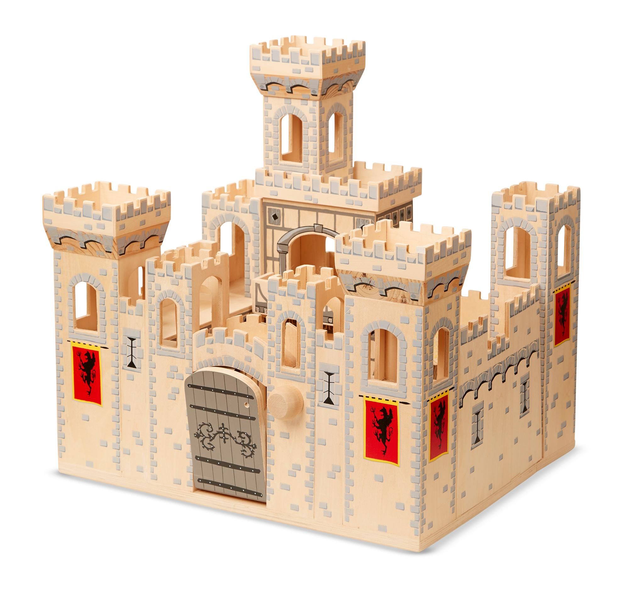 Toy Castles For Toddler Boys : Melissa doug folding medieval castle amazon