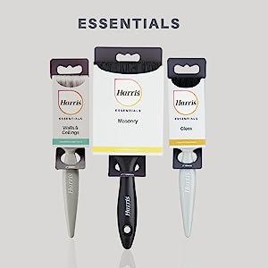 Essentials, Harris, penselen, schilderen, decoreren, verfrollers, diy