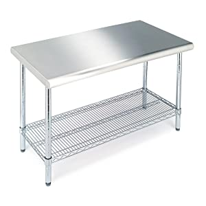 Commercial Stainless Steel Top Worktable, NSF Listed