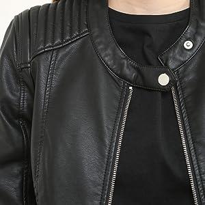 Veste cuir noir esprit
