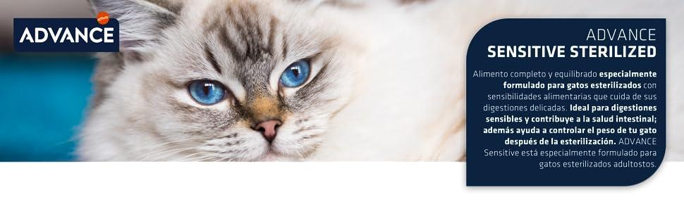Advance Sensitive Pienso para Gato Esterilizado Adulto con Salmón - 3000 gr