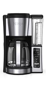 Ninja programmable brewer, coffee maker, delay brew, hot coffee, programmable coffee maker, carafe