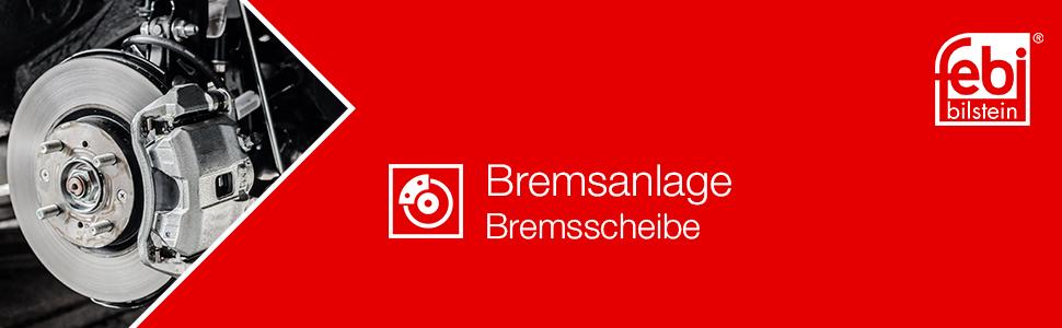 Febi Bilstein 12578 Bremsscheibensatz 2 Bremsscheiben Auto