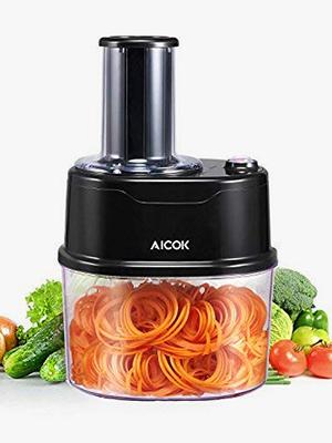 Compra Aicok Cortador de Verduras Espiral Eléctrico con 2 ...