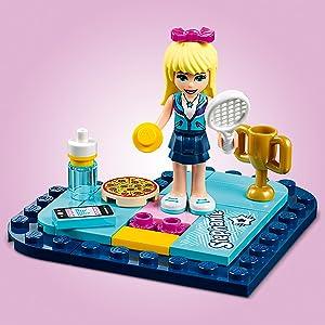 LEGO Friends - Caja Corazón de Stephanie, divertido set de construcción coleccionable para guardar tus cosas (41356): Amazon.es: Juguetes y juegos