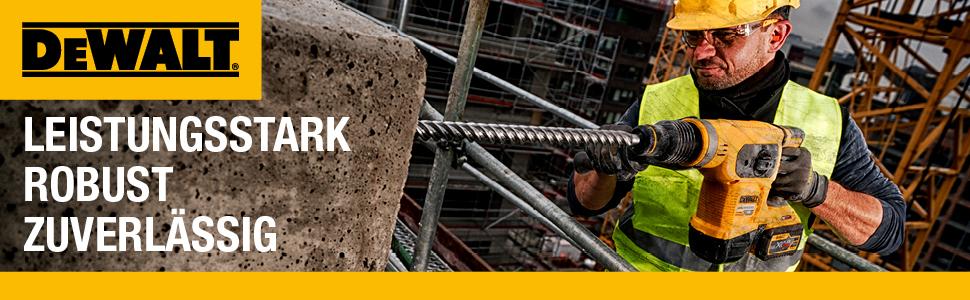 Dewalt, professioneel gereedschap, grote bouwplaats, beton, krachtig, robuust, betrouwbaar, zwart, geel.