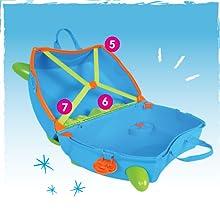 Trunki Maleta correpasillos y equipaje de mano infantil: Autobús ...