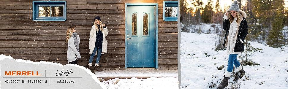 mujer, frio, nieve, descanso, piel, montaña, invierno, cremallera, cordón