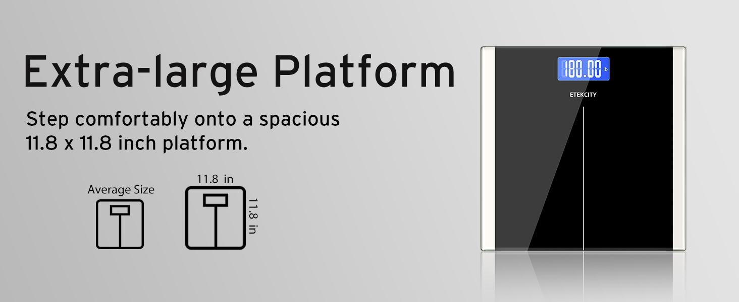 11.8 x 11.8 inch extra large platform