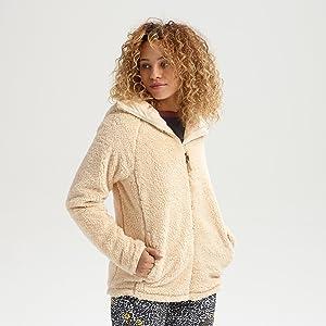 burton womens fleece zip up