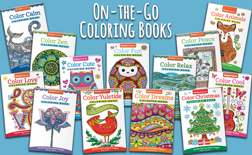 Amazon.com: Color Animals Coloring Book: Perfectly Portable Pages  (On-the-Go! Coloring Book) (Design Originals) Extra-Thick High-Quality  Perforated Pages In Convenient 5x8 Size Easy To Take Along Everywhere  (9781497202399): Jess Volinski: Books