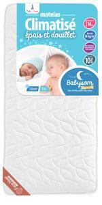 matelas ergonomique bébé bebe enfant 70x140 70 140 memoire de forme déhoussable antiacariens visco