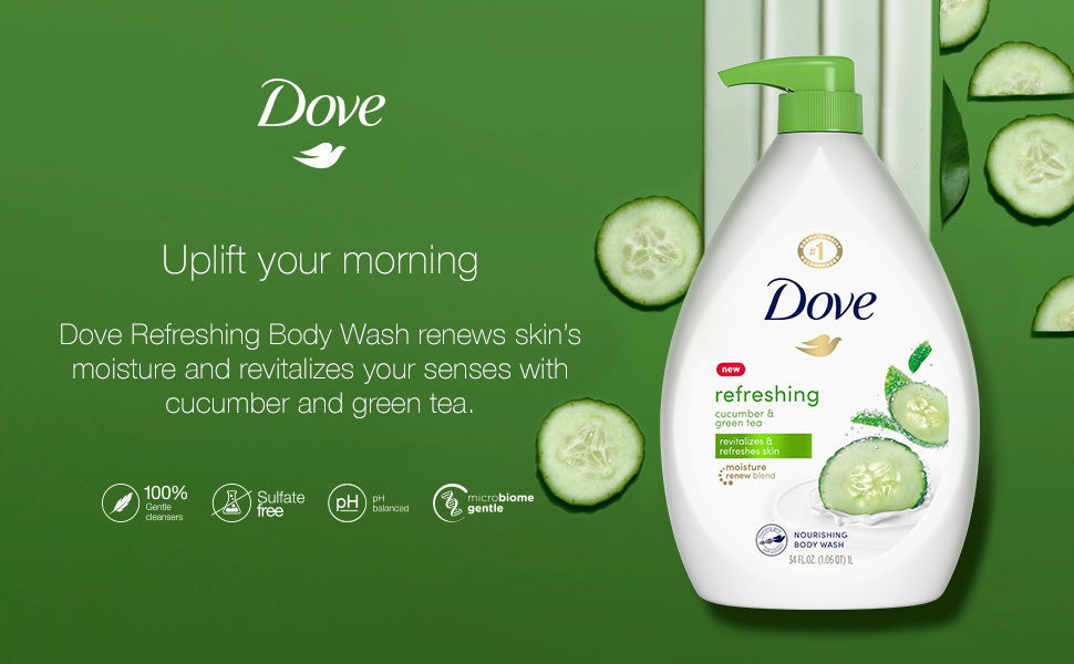 Dove Refreshing product shot with texture