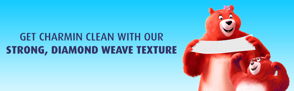 Charmin Ultra Strong's diamond weave texture