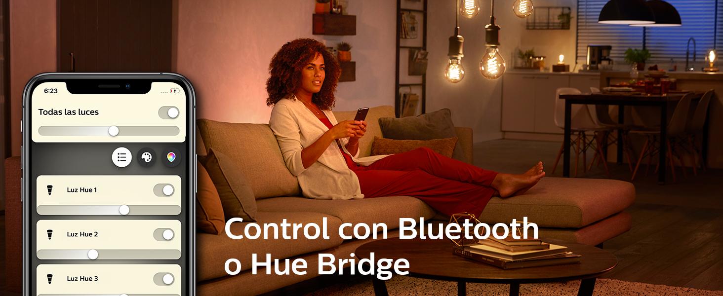 bombilla led retro filamento vintage hue smarthome bluetooth