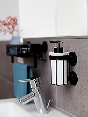 De badkameraccessoire serie Classic Plus Black combineert heldere vormen en hoogwaardige materialen.