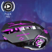 Zinq Technologies ZQGM-1070 Wired Gaming Mouse (Black)