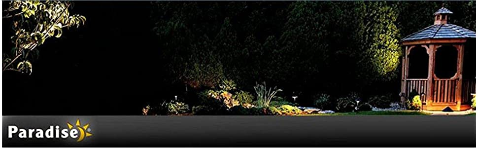 Paradise By Sterno Home Cast Aluminum Solar Powered Led