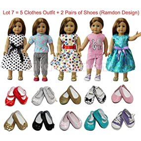 e302fc815af27 ZITA ELEMENT Lot 7 Items   5 Daily Clothes Dress + 2 Shoes for ...