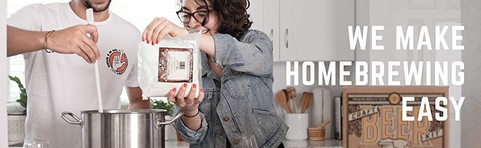 we make homebrewing easy