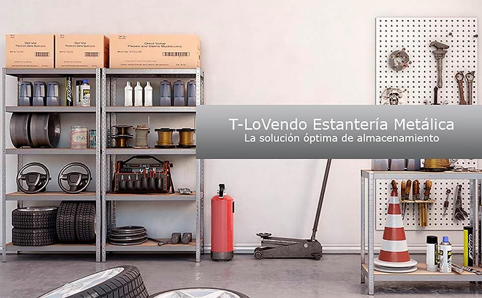 Set de dos estanterías T-LoVendo, vista completa, imagen real.