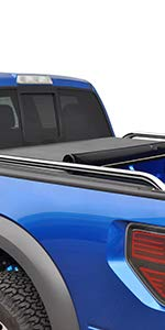 TYGER T2 Soft Low Profile Roll Up Tonneau Truck Bed Cover