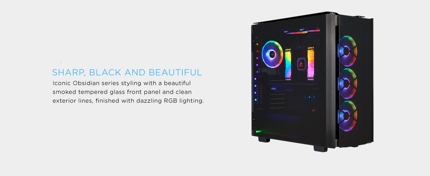 CC-9011139-WW Obsidian Series 500D RGB SE Premium Mid-Tower Case