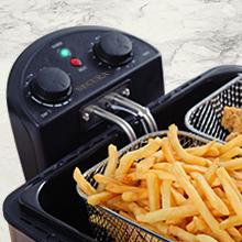 deep frying food