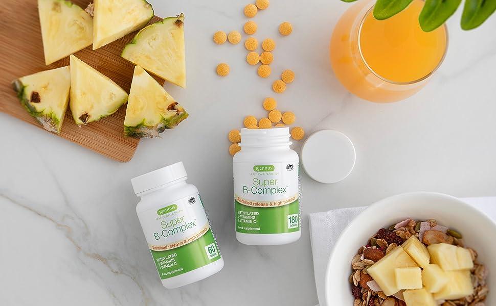 vitamin b complex, super b complex, methylated b complex, B complex, b complex vegan, folate