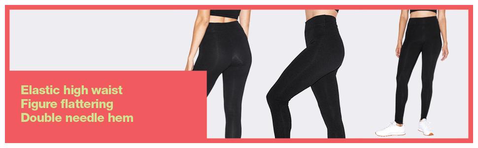american apparel, high waist, legging, cotton spandex