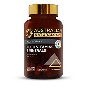 Australian NaturalCare - Multi Vitamins - Multi Vitamins and Minerals Tablets for General Wellbeing
