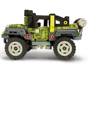 Bloco Toys 3 in 1 Wild Wheeler Dune Buggy ATV Jeep Off-Road