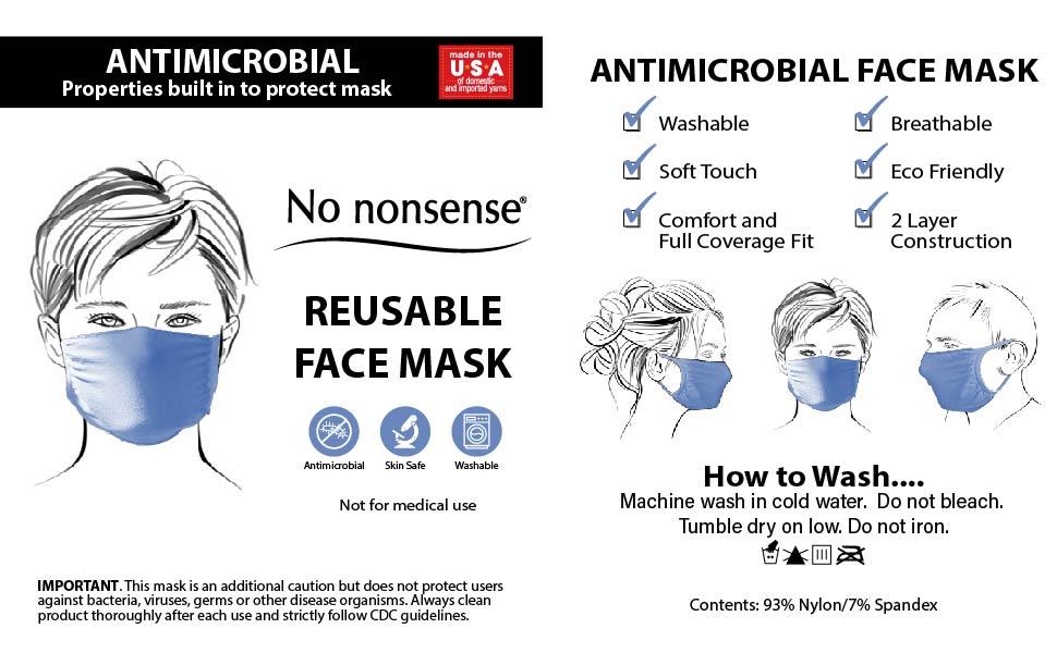 face mask; mask; no nonsense
