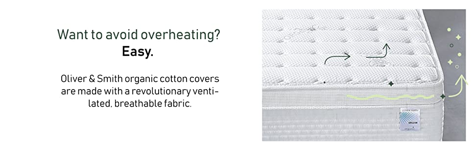 mattress, oliver smith, mattress cover, mattress layers, organic cotton, hybrid mattress