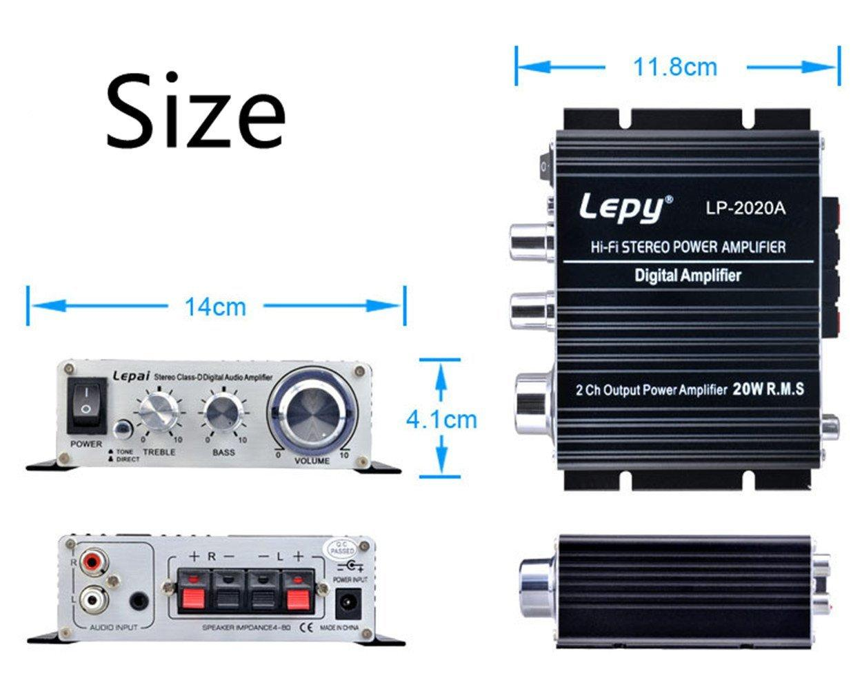 Lepy Lp 2020a Hi Fi Digital Amplifier Mini Stereo Audio Low Voltage Classd Power For Portable Devices View Larger