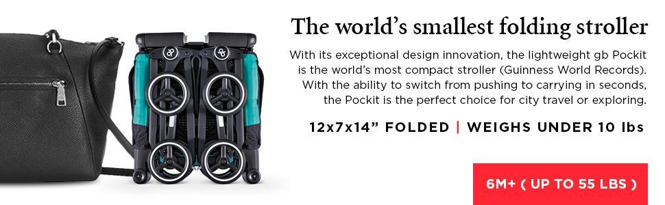 Amazon.com : Pockit Lightweight Stroller, Monument Black