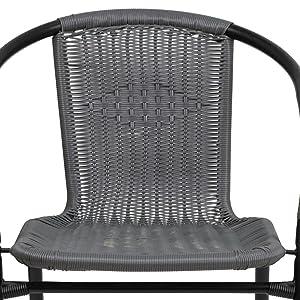 Rattan Indoor-Outdoor Restaurant Stack Chair