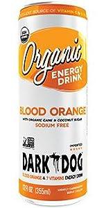 Dark Dog Organic Energy Drink Blood orange