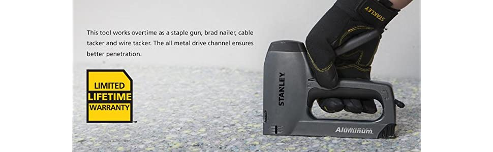 Stanley TR250 SharpShooter Plus Heavy-Duty Staple/Brad Nail Gun ...