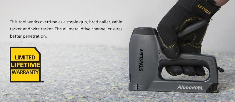 Stanley TR250 SharpShooter Plus Heavy-Duty Staple/Brad Nail Gun with ...