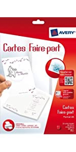 carte, cartes, carte faire-parts, cartes faire-parts, carte invitation, cartes invitation, carte per