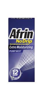 bayer afrin no drip extra moisturizing nasal spray nasal congestion mist 12 hours all day all night