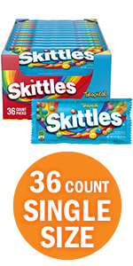 SKITTLES Tropical Candy Singles Size