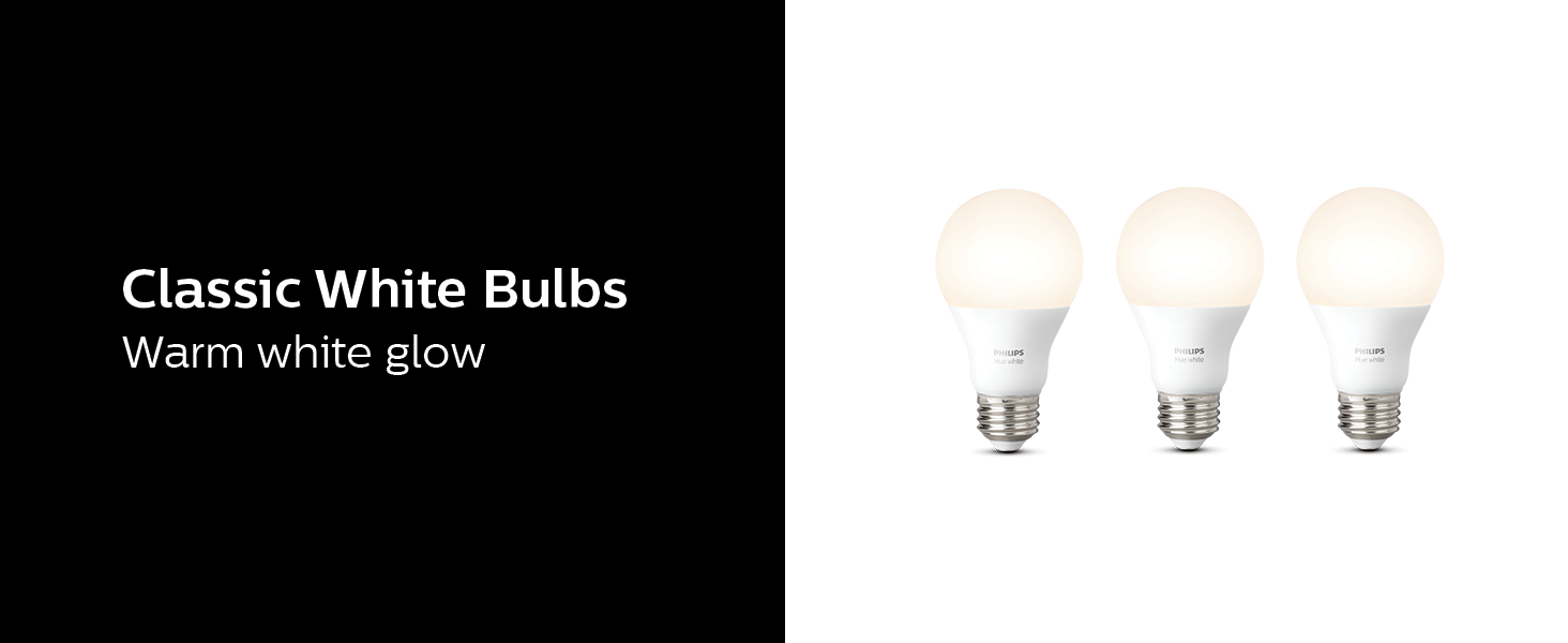 Philips Hue;starter kit;A19;bulbs;Hue Hub;white;dimming;smart home;LED;smart lighting;lamps;app