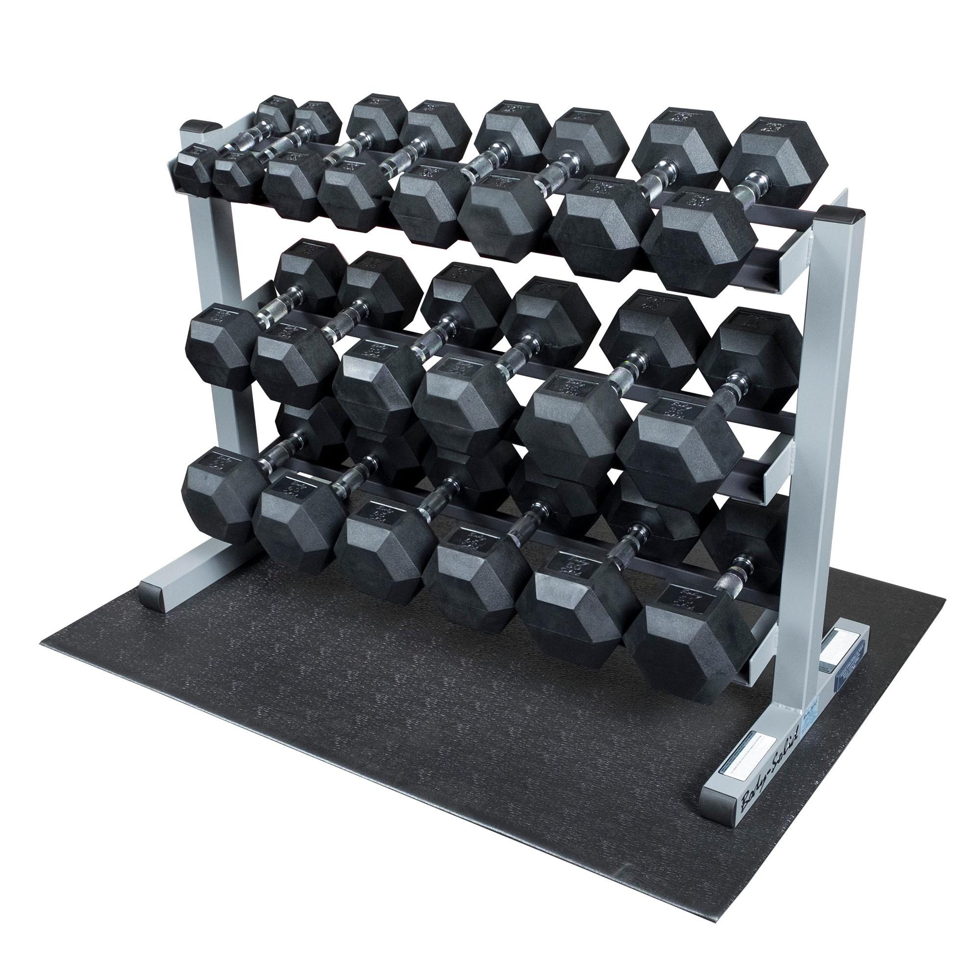 Amazon Com Body Solid Gdr363 Rfws Dumbbell Rack With