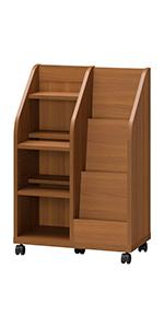 ランドセル 収納 キッズランドセルラック ランドセルらっく ランドセル掛け ラック 棚 キャスター付き 木製 天然木 キッズ家具 きっず家具 こども 子供 SHIRAI 幅57 奥行30 高さ85