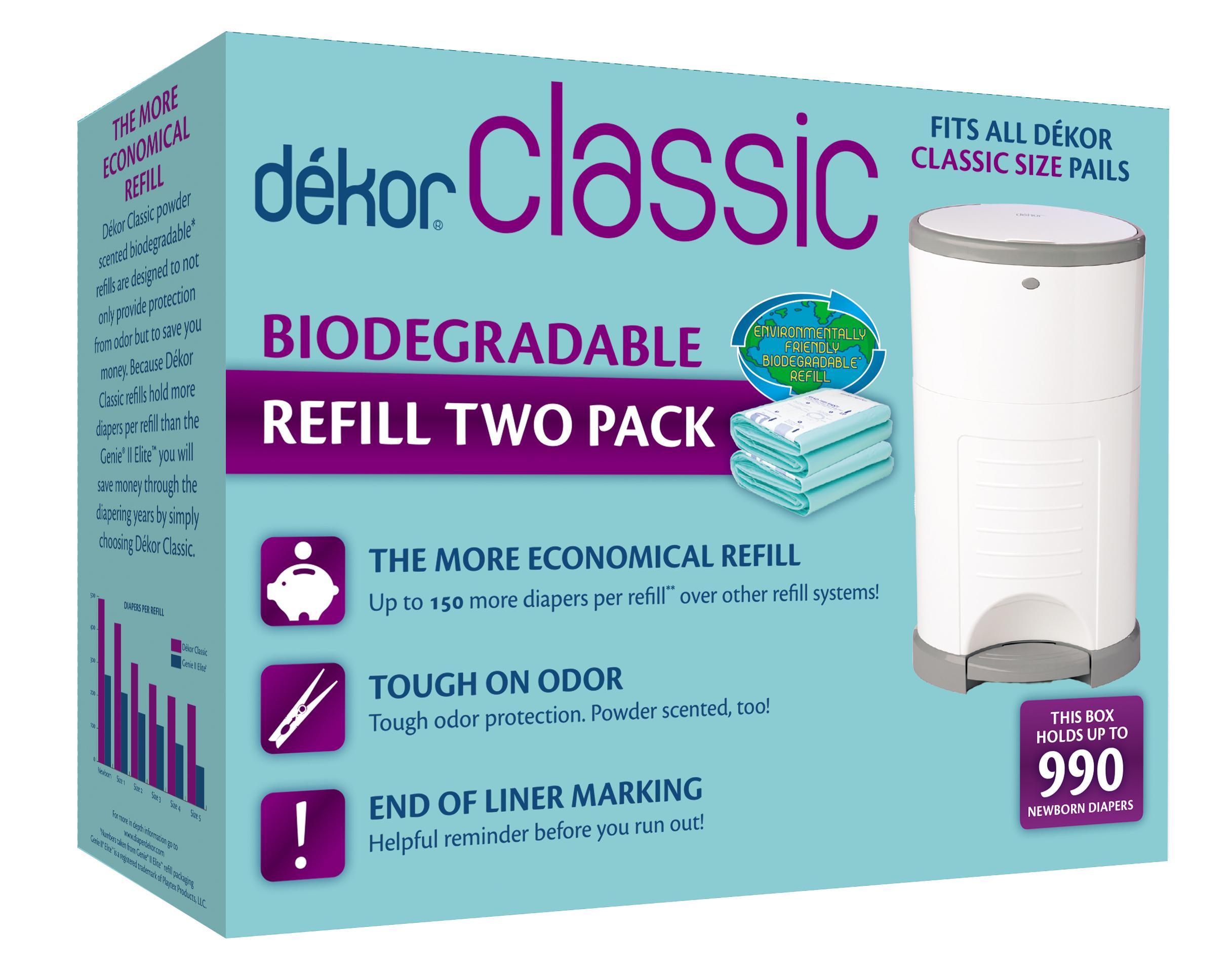 Diaper dekor classic diaper pail liner for Dekor classic diaper pail refills