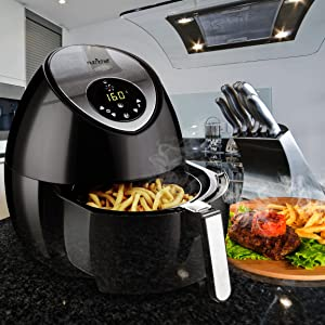 Nutrichef Electric Hot Air Fryer Oven W Digital Display