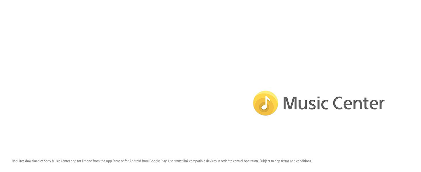 Sony | Music Center app