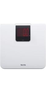 TANITA タニタ 体重計 デジタル 大画面 LED ホワイト HD-395 WH 乗るだけで電源オン
